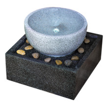 Tenaya Granite Vortex Fountain w/LED Lights