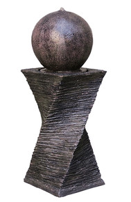 Floating Sphere Fountain - Marble Brown