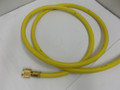 "PLUS II™ 3/8"" ""B"" Charging Hose 50', Yellow, 3/8"" straight x 3/8"" 45°"