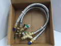 Water Source Heat Pump Flex Stainless Steel Hose Kit, 1/2 x 24 In 5.0 GPM