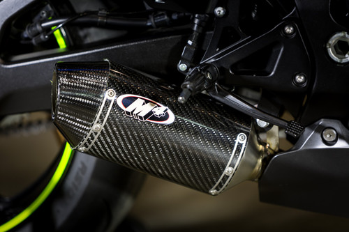 2017 GSXR1000 Street Slayer Full System with Full Stainless Steel Tubing and CARBON Muffler