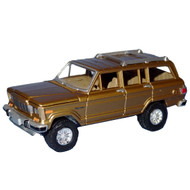 Johnny Lightning/ ERTYL 1981 Jeep Wagoneer Gold 1:64 Die Cast Toy