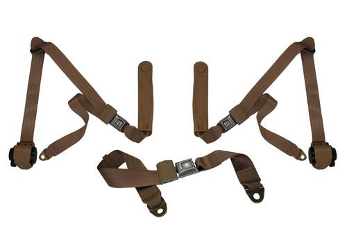3 Point Front & Middle Lap Belt