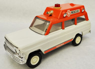 1970's Vintage Tonka Jeep Rescue Ambulance Toy