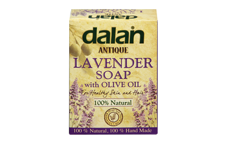 Discover the incredible harmony of relaxing fragrance of Lavender and Dalan's Traditional Olive Oil soap. dalan, antique, london, organic, lavender, lavander, soap, cosmetics, beauty, body, hair, cleaning, uk