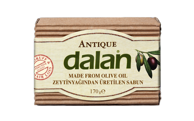 Roxy Dalan Antique Pirina  100% Olive Oil soap for 70 years  Dalan Antique, 100% pure olive oil soap, is an indispensable natural beauty remedy of Turkish bath culture. You can use Dalan Antique for cleaning your hair. It's effectiveness against hair loss and dandurf has been proven by independent laborataries. It continues to be produced with traditional handmade methods for 70 years. Thanks to repairing properties of Vitamin E and Antioxidants found naturally in high quantities in Olive Oil, Dalan Antique moisturizes and nourishes your skin.