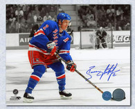 Brian Leetch New York Rangers Autographed Colorized 8x10 Photo