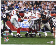 Eli Manning New York Giants Autographed Superbowl Escape 16x20 Photo