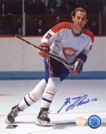 Guy LaFleur Canadiens Signed Skating Up 8x10 photo