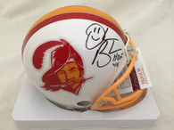 Derrick Brooks signed Buccaneers Creamsicle Riddell Mini Helmet