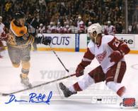 David Pastrnak Boston Bruins Autographed Shooting 8x10 Photo