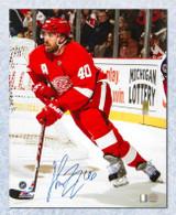 Henrik Zetterberg Detroit Red Wings Autographed Around Net 8x10 photo