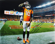 Emmanuel Sanders Denver Broncos Autographed Mile High Salute 8x10 Photo