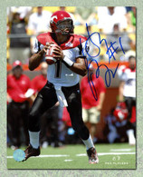 Henri Burris Calgary Stampeders Autographed Looking to Throw 8x10 Photo