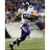 "Kyle Rudolph Minnesota Vikings Autographed with ""Skol Vikings"" Inscription 8x10 photo."