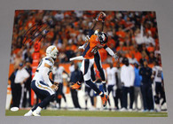 Emmanuel Sanders Denver Broncos Autographed  All Out Catch 16x20 Photo
