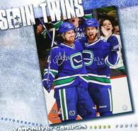 Daniel and Henrik  Sedin Vancouver Canucks Dual Autographed Goal Celebration 16x20 photo