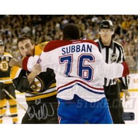 Brad Marchand Boston Bruins Autographed Fight 8x10 photo