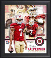 Colin Kaepernick San Francisco 49ers Game Used Piece of Football Collage