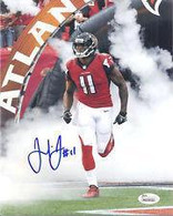 Julio Jones Atlanta Falcons Autographed Smoke Intro 16x20 Photo
