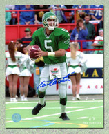 Kent Austin Saskatchewan Roughriders Autographed Set to Throw 8x10 Photo