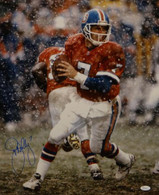 John Elway Denver Broncos Autographed Snow Game 16x20 Photo