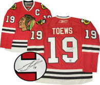 Chicago Blackhawks Autographed Johathan Toews Dark Replica Jersey