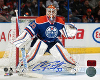Cam Talbot Edmonton Oilers Autographed In Net 16x20 Photo