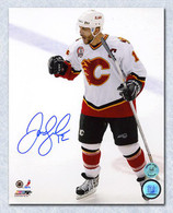 Jarome Iginla Flames Signed Stanley Cup 8x10 Photo