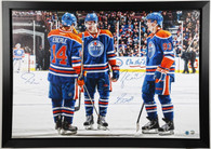 Hall, Eberle, Nugent-Hopkins 2 x 3 Foot Oilers Signed and Framed Canvas.