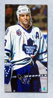 Doug Gilmour Toronto Maple Leafs Autographed Bloody Warrior 14x28 Canvas