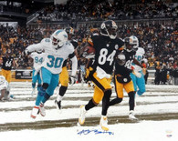 Antonio Brown Pittsburgh Steelers Autographed Snow TD Run 16x20 Photo