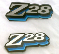 1978 CAMARO Z28 GRILL / FUEL  DOOR EMBLEM COMBO SET! 3 COLOR BLUE