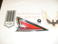 1977 - 1981 FIREBIRD TRANS AM NOSE HEADER EMBLEM CREST RED