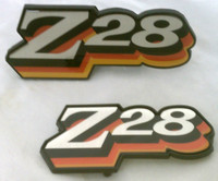 1978 CAMARO Z28 GRILL / FUEL  DOOR EMBLEM COMBO SET! 3 COLOR RED ORANGE