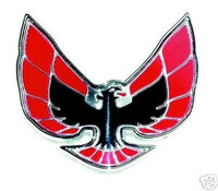 1974-1976 FIREBIRD TRANS AM HEADER PANEL (NOSE) EMBLEM - RED