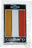 1975-1977 CAMARO FRONT HEADER PANEL EMBLEM ORANGE BLACK RED