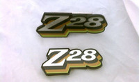 1978 CAMARO Z28 GRILL / FUEL  DOOR EMBLEM SET! 3 COLOR GOLD GREEN