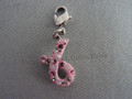 Pink Hope Charm (Breast Cancer Awareness Pink Ribbon Charm)