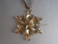 2012 SCS Annual Edition Golden Snowflake / Star Christmas Ornament