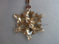2012 SCS Annual Edition Golden Snowflake Star Christmas Ornament