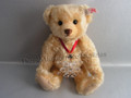 2004 Steiff Daniel Bear with Swarovski Annual Edition Snowflake Christmas Ornament