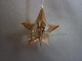 Crystal Pixel Star Ornament ~ Golden Shadow