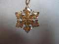 2016 SCS Annual Edition Little Golden Snowflake / Star Christmas Ornament