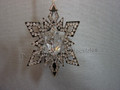 Crystal Pixel Christmas Ornament Star - Silver Tone