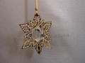 Crystal Pixel Christmas Ornament Star - Gold Tone