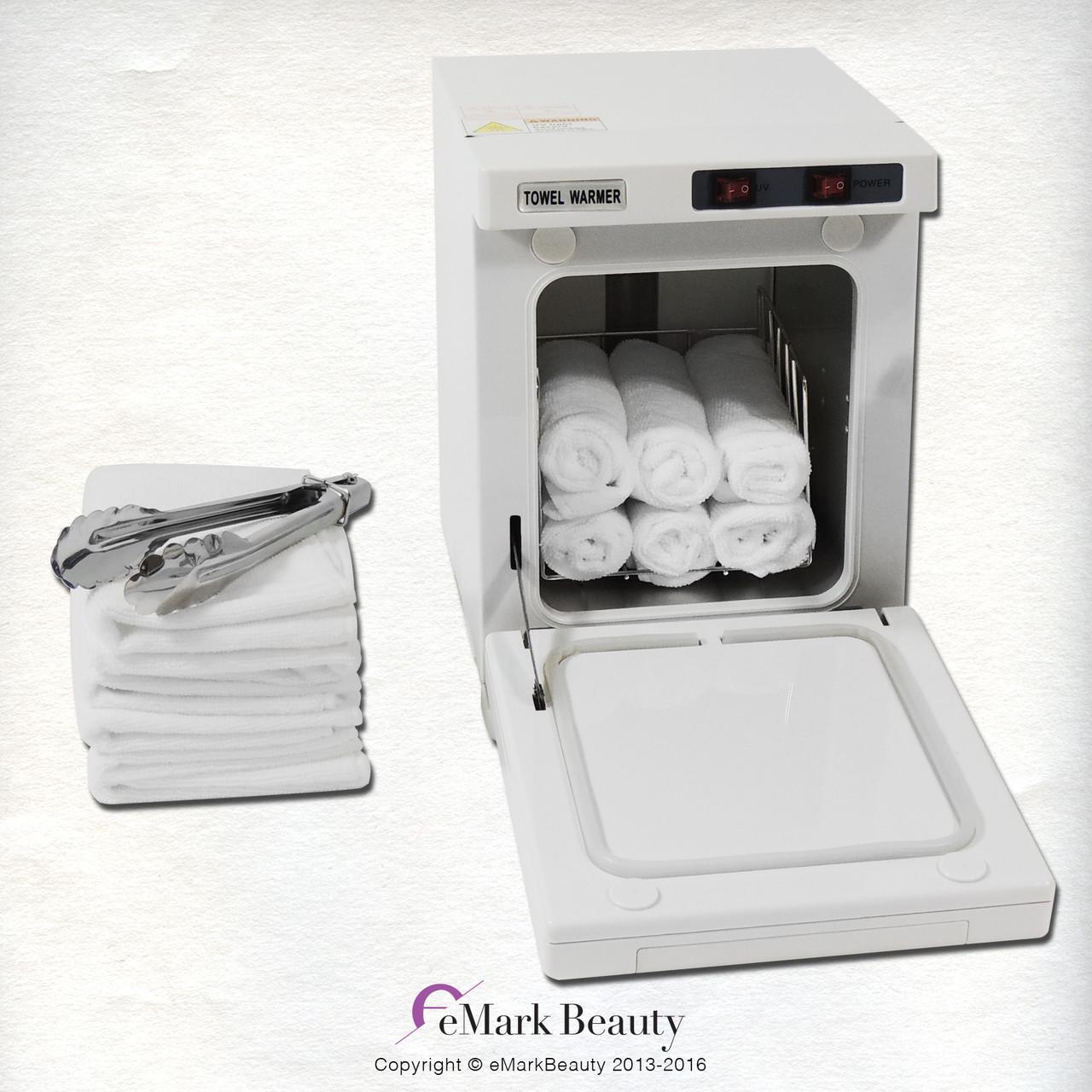 mini hot towel warmer cabinet uv sterilizer 12 free towels facial nail spa beauty salon equipment