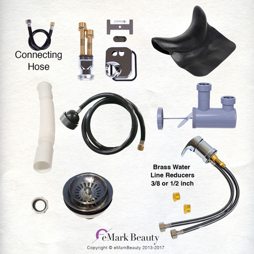 Plumbing Parts Kit for use with Shampoo Bowls with Large Gel Neck Rest TLC-116KLS