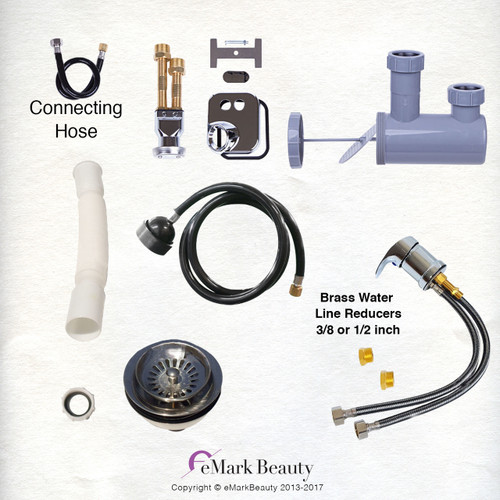 Plumbing Parts Kit for use with Shampoo Bowls TLC-116K