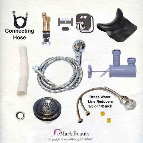 Upgraded Plumbing Parts Kit for use with Shampoo Bowls with Large Gel Neck Rest TLC-116KLS.77DH